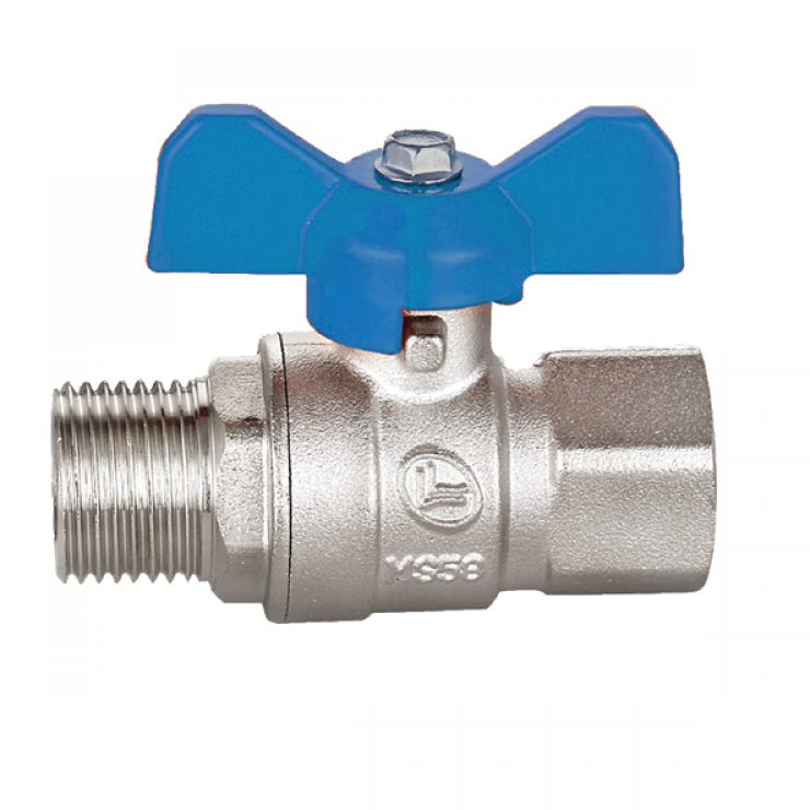 Brass Ball Valve Short Handle M/F